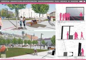 Projekt placu miejskiego.