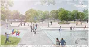 projekt parku miejskiego